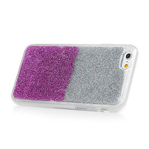 iPhone 6S Plus Cover Silicone e Bling Glitter Brillanti, iPhone 6 Plus Custodia Morbida TPU Flessibile Gomma QuickSand Stella - MAXFE.CO Case Sottile Cassa Protettiva per iPhone 6 Plus / 6S Plus - Bli Viola