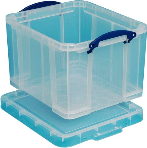 Really Useful Storage Box Plastic Lightweight Robust Stackable 35 Litre Clear Ref 3C  sc 1 st  Amazon UK & Really Useful Boxes 35 Litre: Amazon.co.uk Aboutintivar.Com