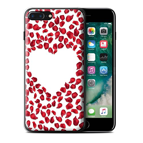 Stuff4Phone Fall/Cover/Haut/ip7plus/Valentine Heart Collection Red Rose Petals
