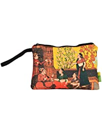 Eco Corner Big Indian Art Balcony Multi-Coloured Cotton Pouch