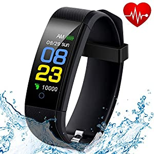 F-FISH Fitness Tracker Waterproof, Activity Tracker Watch con monitor de
