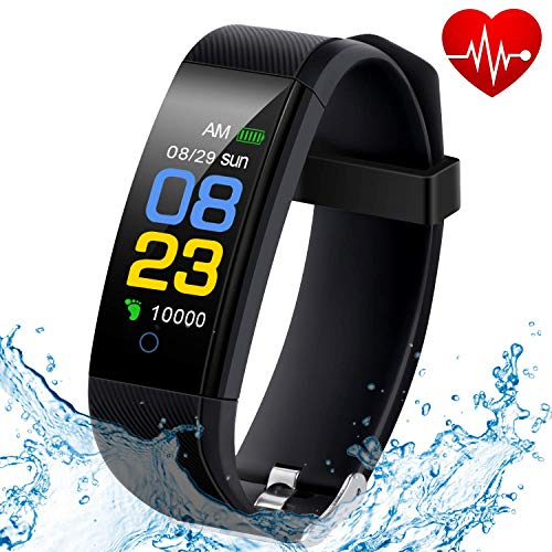 F-FISH Fitness Tracker Waterproof, Activity Tracker Watch con monitor de ritmo cardíaco, banda inteligente...