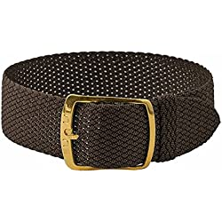 Kristall Replacement Band Perlon Strap Textile Strap brown, braided, waterproof 25595G, width:14mm