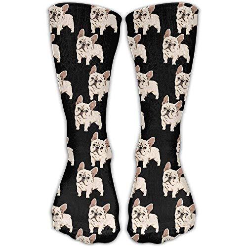 French Bulldog Unisex Novelty Crew Socks Ankle Dress Socks Fits Shoe Size 6-10