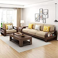 MAHIMART AND HANDICRAFTS Sheesham Solid Wood 5 Seater Sofa Set Without Centre Table for Living Room | Wooden Sofa Set…