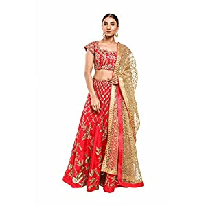 Pushp Paridhan Designer New Collection Traditional Ethnic Wear Machine With Handwork Pista Green Lehenga Choli Set For Women