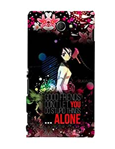 Fuson 3D Printed Quotes Designer back case cover for Sony Xperia M2 - D4515