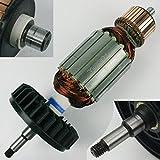 Anker Rotor komplett mit Kollektor und Lüfterrad für Motor von Makita Flex Winkelschleifer GA 9030 GA9030