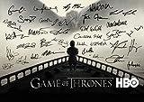 Game of Thrones Poster signiert aus Staffel 8 mit allen Unterschriften von Jon Snow und Daenerys Targaryen