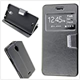 "Misemiya - Coque Étui Cover pour Alcatel A2 XL/Alcatel Pixi 4 (6.0"") 3G - Coque, Cover View Support, Noir"