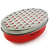 Latest Cheese Grater - Rated Top Food Grater With Storage Container - Perfect For Hard & Soft Cheeses, Ginger, Vegetables - Invented To Solve Your Cheese Grating Needs