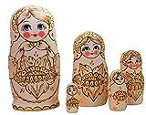Semenowskay Rospis Matroschka, Babuschka, Matryoshka Sonnenblume Set 5 Puppen