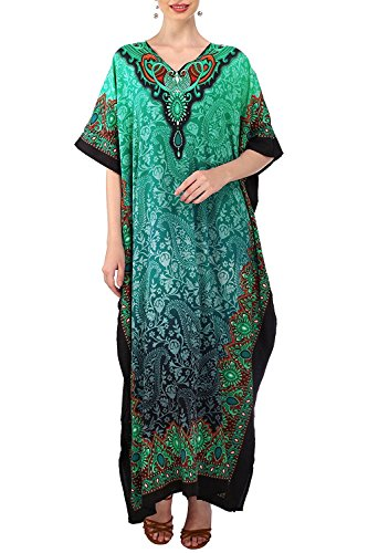 Miss Lavish London Women Kaftan Tunic Kimono Free Size Long Maxi Party Dress Loungewear Holidays Nightwear Beach Everyday Cover up