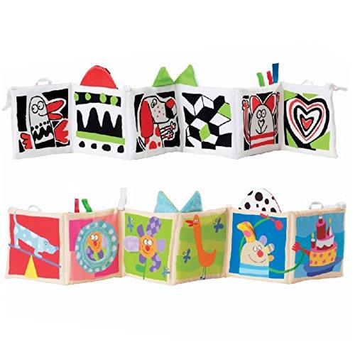 Kolamom Clip-On Baby Pram Carriage Crib Stroller Cloth Books Crinkle Soft Book for Babies Early Development Learning & Education Toys for Newborn Infants Toddlers Children Kids (dog)