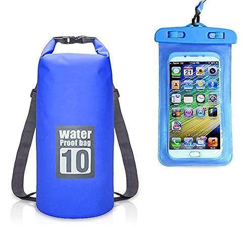 ultraléger Dry Bag Fermeture Rouleau sur le dessus Dry Bag Sac avec deux sangles d'épaule pour Drift Natation extérieur tourisme, bleu marine