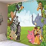 myvovo Buon Compleanno Parete Appeso arazzo per Bambini Stampato copriletto Decorativo Copertura del dormitorio Telo Mare casa Camera Parete Arte Decor