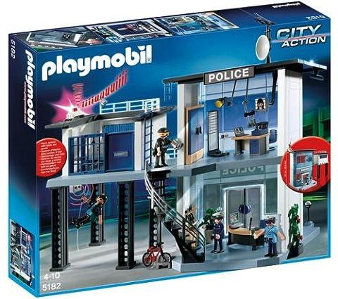 PLAYMOBIL 5182–Polizeistation mit Alarm-System