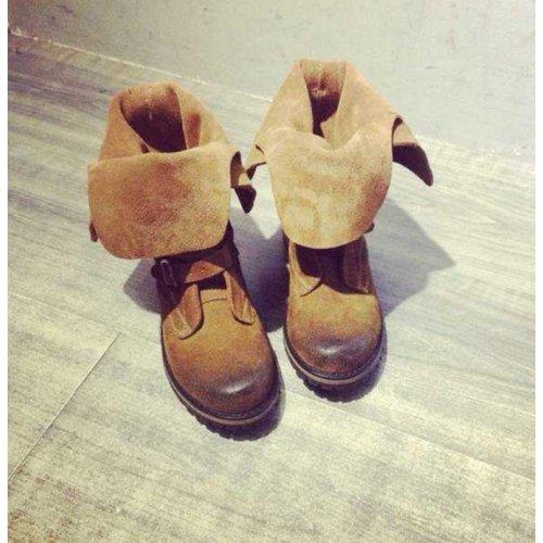 Botte EGONERY, Chaussures femmes, Botte équitation , Botte cuir véritable, Botte femme MODE 2016, Bottine Moto Brun