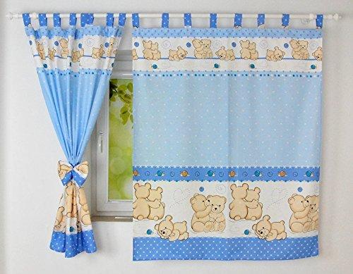babylux kinderzimmer vorhange mit schlaufen kinder und baby ... - Vorhange Kinderzimmer Blau