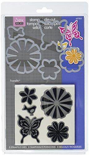 Sizzix Framelits Die Set 5Stück mit Briefmarken-Bold Pop Designs von Hero Arts -
