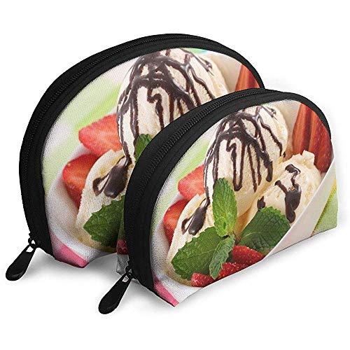 Gelato borse portatili borsa per trucco borsa da toilette, borse da viaggio portatili multifunzione piccola pochette per trucco con cerniera