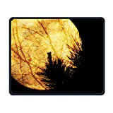 Nature Mouse Pad, Night Sky Planet Theme,Standard Size Rectangle Non-Slip Rubber Mousepad, Multicolor Saturn