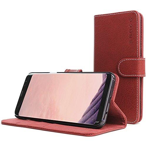 Galaxy S8Plus Fall, Snugg Samsung Galaxy S8Plus Flip Case [Slots] Leder Brieftasche Cover Executive Design Legacy Serie rot Dusty-Cedar Red Executive Leder-cell