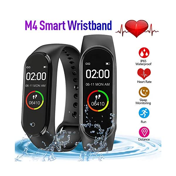 NWHEBET NWHEBET Smartwatch Fitness Tracker, Bluetooth Slim GPS Activity Tracker con Herzfrequenzmessung Schlafmonitor estanco HD Touchscreen,Step Tracker para niños, Mujeres y Hombres 2
