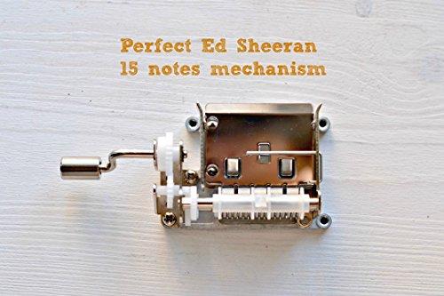 * Perfect * de * Ed Sheeran * adaptado a una manivela de música de 15 notas. El regalo mas original para los amantes de su música. También puedes comprar el pack para hacer tu propia caja de música.