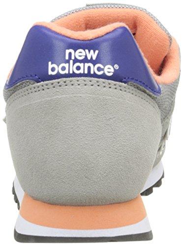 New Balance Damen 487651 50 Sneaker Grau (Grey/Blue/Orange)