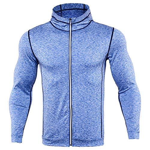 Herren Hoodie,TWBB Schlank Kapuzenpullover Mit Reißverschluss Einfarbig Lange Ärmel Sweatshirt Pullover Mantel Outwear Sweatjacke Hemd