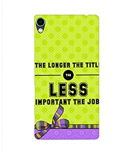 PrintVisa Designer Back Case Cover for Sony Xperia C6 Ultra Dual (Philosophical Quote Cover)