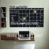 Reixus (TM) 56x38cm Monat Tafel Wandaufkleber Tafel-entfernbare Wand-Aufkleber Tafel-Kalender Aufkleber Planer Mural