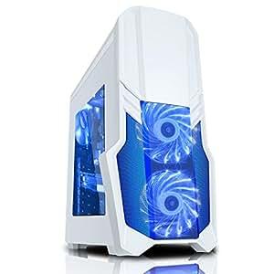 VANTAGE White GAMING PC (FX-4350 Quad Core 4.20GHz Processor - Gigabyte GA-78LMT-USB3 Motherboard, AMD Radeon 6450 2GB Graphics Card, 1TB Hard Drive, 16GB DDR3 RAM Memory, HDMI 1080p, USB 3.0, WiFi, 500W Gaming PSU, pre-installed with Windows 7 64 bit Home Premium)