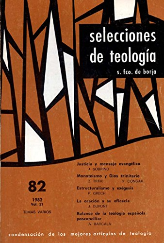Selecciones de Teología Nº 82. 1982