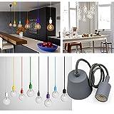 Princeway Farbe Silikon Deckenlampen Befestigung- Europäische Moderne IKEA Stil- DIY Einfache Installation für Beleuchtung für Zuhause in Küche, Esszimmer, Wohnzimmer, Kinderzimmer und Restaurant (Grau)