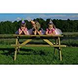 Wooden Marta 6 Seater Picnic Table - Wood Picnic Bench for Gardens Parks Schools and Pubs 1.4 Meter Length