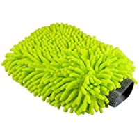 TechWash Microfiber Wash Mitt Premium Microfiber Chenille Wash Mitt for Car Window Washing Home Cleaning Cloth Duster Towel Mitten, Green - ukpricecomparsion.eu