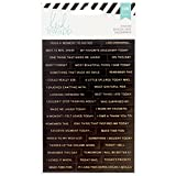 American Crafts Heidi Swapp - Adesivi con parole per agenda, 3 fogli, miscuglio di parole, in acrilico, multicolore