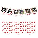 NICROLANDEENICROLANDEE Geburtstag Foto Banner Bunting Obst Muster Party Decor Papier Girlande Banner liefert Bunting für Baby-Dusche Brautdusche ersten Geburtstag Dekoration (Wassermelone)