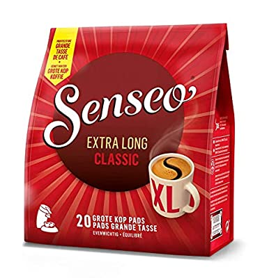 Douwe Egberts Senseo Extra Long Classic / Medium / All Day, Mug Size Coffee 20 Pods (Pack of 5, Total 100 Pods)