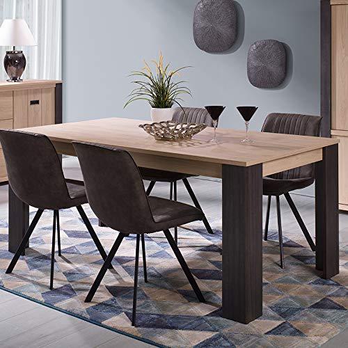 Kasalinea - Mesa de Comedor (180 cm), diseño contemporáneo, Color ...