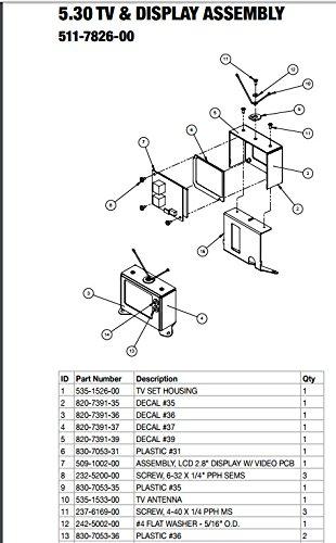 Stern Pinball Flipper LCD 2.8' Display Assembly #509-1002-00 -