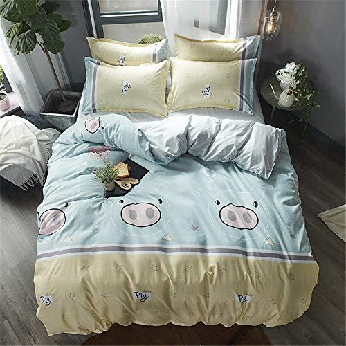 YUNSW Single Twin Voll Queen King Big Size Bettbezug Blatt Kissenbezug Bettwäsche Set aus weicher Baumwolle Heimtextilien G 150X200cm / 59X79In