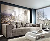 DELIFE XXL-Sofa Marlen Hellgrau 300x140 cm Bigsofa