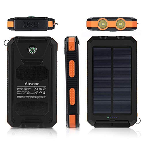 Solar Power Financial institution, Zowam 20000mlAh Portable Solar Phone Charger External Backup Solar Panel with Dual USB Ports Outdoor LED Flashlight and Compass Image 9