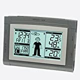 Technoline Wetterstation WS 9611-IT mit Vorhersage von Wettersituation, Anzeige von Wettertendenz und Innen- und Außentemperatur, Wettermännchen das sich Wetter entsprechend anzieht