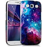 kwmobile Hardcase Hülle für Samsung Galaxy S3 i9300 / S3 Neo i9301 mit Space Design - Hartschale Backcover Case Schutzhülle Cover in Mehrfarbig Pink Schwarz
