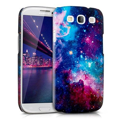 kwmobile Coque Samsung Galaxy S3 / S3 Neo - Coque pour Samsung Galaxy S3 / S3 Neo - Housse de Protection en Plastique Rigide Multicolore Fuchsia Noir