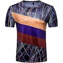 Camisetas, Ba Zha Hei Verano Casual Camisas De Hombre de Moda Ajustado Camisetas con Hombre